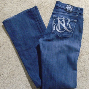 ROCK & REPUBLIC Kasandra Boot-Cut Jeans 26 Leather
